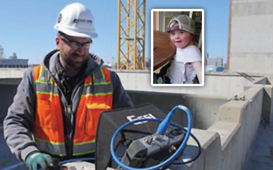 Grace's dad is a construction worker building the CRI tower with his hands… and heart
